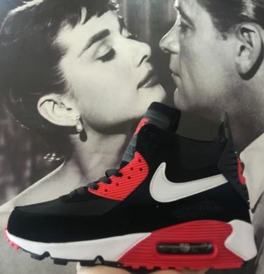 Nike Air Max 90 Hightop schwarz rotherren sneakers