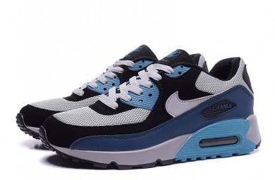 Nike Air Max 90 Spring schuhe grau-schwarz-blau-cyan für damen