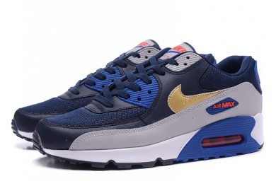 Nike Air Max 90 Essentiale cyan-royal blau-grau-god Trainer schuhe