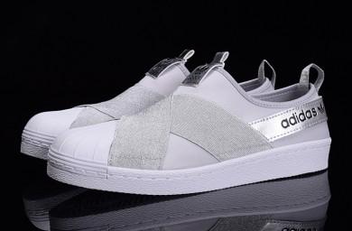 Adidas Superstar SLIP auf weiß / silbergrau schuhe Trainer