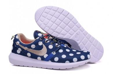Nike Roshe Run Dunkelblau / Weiß Punkte / Dunkel khaki für Herren-sneakers