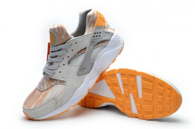 Nike Air Huarache Hellgrau Orange Trainer schuhe für Herren