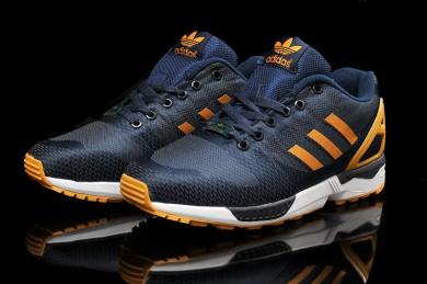 Adidas ZX FLUX für Herren weben dunkelslateblau / dunkelorange Trainersneakers