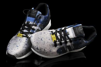 Adidas ZX Flux regnet blau / grau Trainer sneakers für Herren