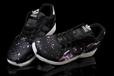 Adidas ZX Flux Sternenhimmel schwarz / lila sneakers für Herren