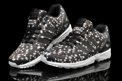 Adidas ZX Flux Prisma schwarz / weiß / braune schuhe für Herren