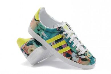Adidas Gazelle türkis / neongelb Trainer für damen