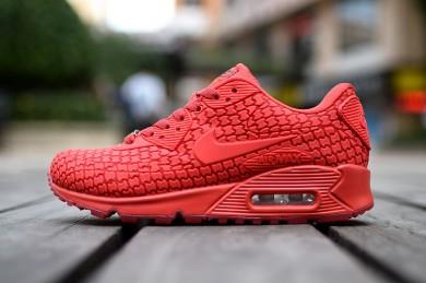 Nike Air Max 90 Stadt-Göttin rotdamen sneakers
