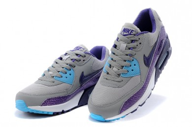 Nike Air Max 90 Kinder schuhe grau-lila-blau
