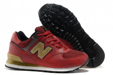 New Balance 574 Trainersneakers Rot, Gold für herren