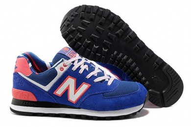 New Balance 574 Blau, Orange + Weiße sneakers für damen