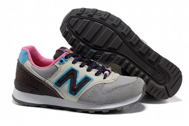 New Balance 996 Grau, Blau + rosa sneakers der damen