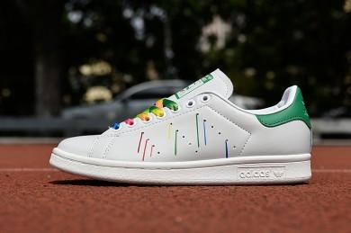 Adidas Stan Smith weiß, grün, gelb meteoric schuhe