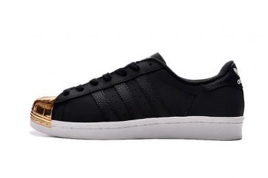 Adidas Superstar 80er Metal Toe Trainer sneakers schwarz / gold