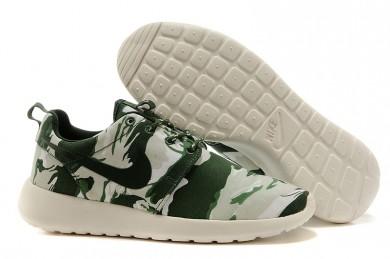Nike Roshe Run Air 3M sneakers Armee-Grün / hellgrau