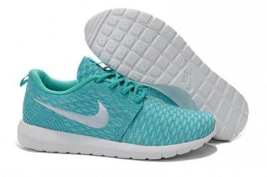 Nike Flyknit Roshe Run Trainer Türkis / Weiß für damen