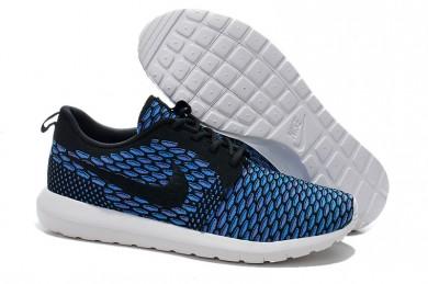 Nike Flyknit Roshe Run Herren Lovers Fluorescent Blau / Schwarz Trainer