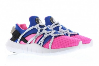 "Nike Air Huarache NM ""Dynamic Rosa / Spiel Royal"" Trainer sneakers Rose / königsblau"