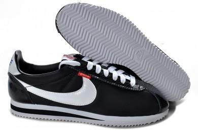 Nike Classic Cortez Nylon herren-Schwarz-Weiß-Trainer-schuhe