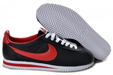 Nike Classic Cortez Nylon Schwarz Rot Premium-sneakers für Herren