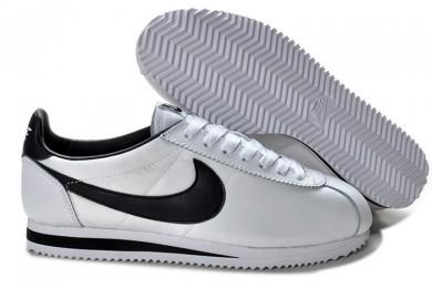 Nike Classic Cortez Nylon Weiß Schwarz-Trainer-schuhe für Herren