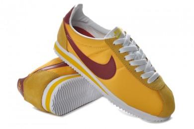 Nike Classic Cortez Nylon Gelb Burgundy sneakers für Herren