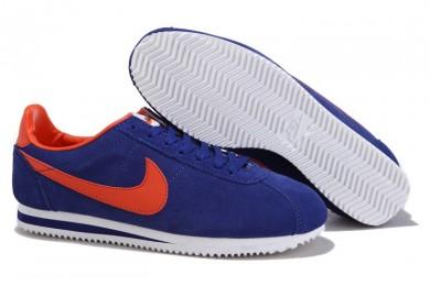 Nike Classic Cortez Suede Vintage blau Orange schwarze sneakers für Herren