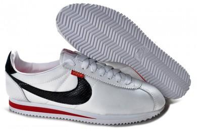Nike Classic Cortez Nylon Trainer schuhe Weiß Schwarz Rot für damen