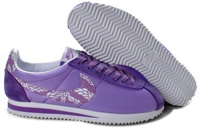 Nike Classic Cortez Nylon Trainer sneakers Lila Speziell für damen