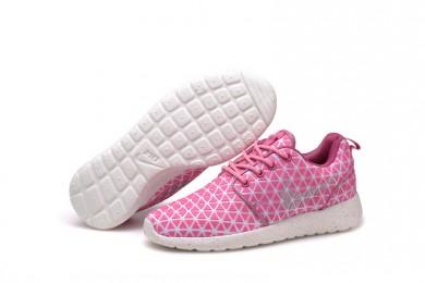 Nike Roshe Run Triangles Rosa / Weiß Trainersneakers für damen