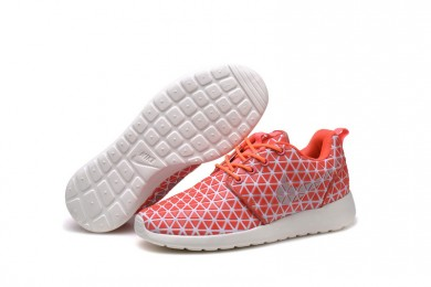 Nike Roshe Run Triangles Orange / Weiß sneakers für damen