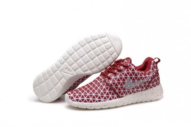 Nike Roshe Run Triangles Dunkelrot / weiß für damen Trainersneakers