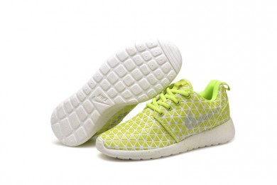 Nike Roshe Run Triangles Fluorescent gelb / weiß für damen sneakers
