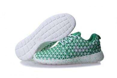 Nike Roshe Run Triangles Grün / Weiß für damen schuhe