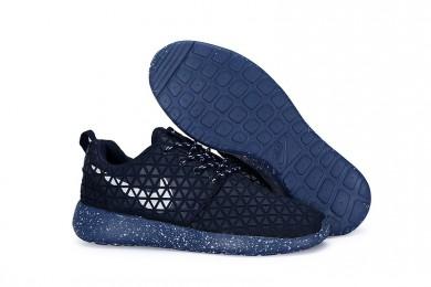 Nike Roshe Run Triangles Midnightblau / Weiß für Herren-Trainer schuhe