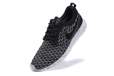 Nike Roshe Run Flyknit für Herren-Dim grau / schwarze schuhe Trainer
