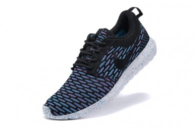 Nike Roshe Run Flyknit für Herren-Marine blau / schwarze sneakers Trainer
