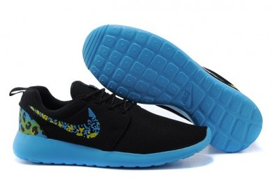 Nike Roshe Run Trainer sneakers Lovers Schwarz / Dodger blau