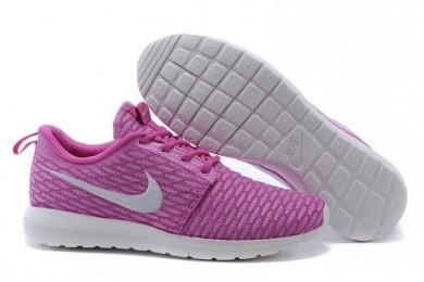 Nike Flyknit Roshe Run Trainer schuhe Rosa / Weiß für damen