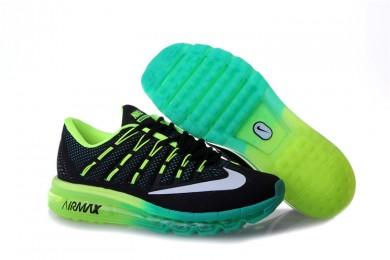 Nike Air Max 2016 sneakers Schwarz / Cyan / Weiß / Grün Fluoreszierende für Herren