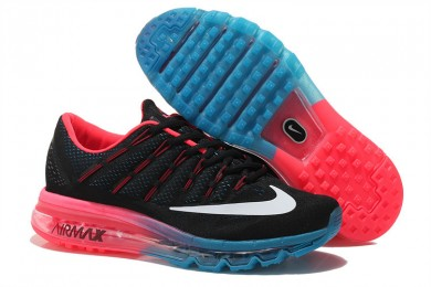 Nike Air Max 2016 Schwarz / Weiß / Orange / Blau-Trainer-schuhe für Herren