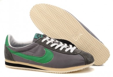 Nike Classic Cortez Nylon Herren Grau Grün schuhe