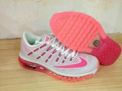 Nike Air Max 2016 Trainer Grau / rosa / violett rosa für damen