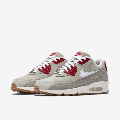 Nike Air Max 90 beige-rot-weiße schuhe