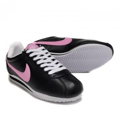 Nike Classic Cortez Leder 09 Trainersneakers Schwarz Rosa für damen