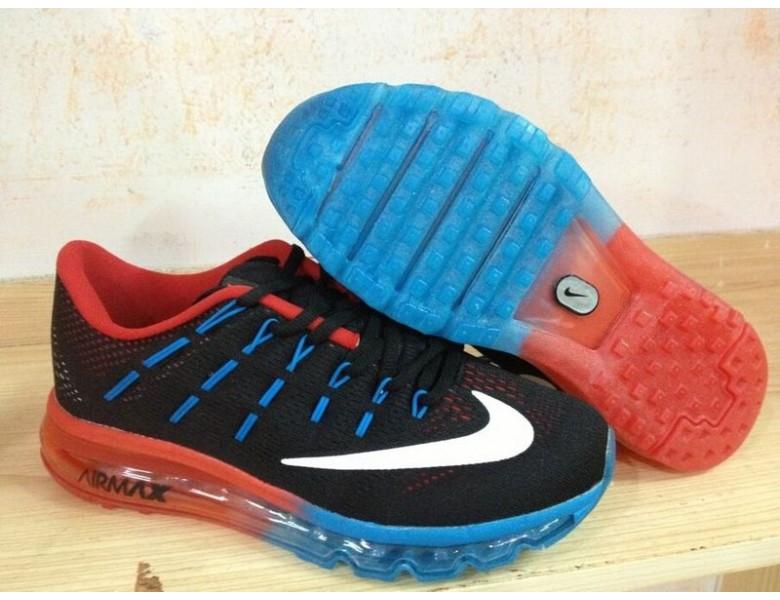 Herren Nike Air Max 2016 Weiß Orange Schwarz Trainer Schuhe
